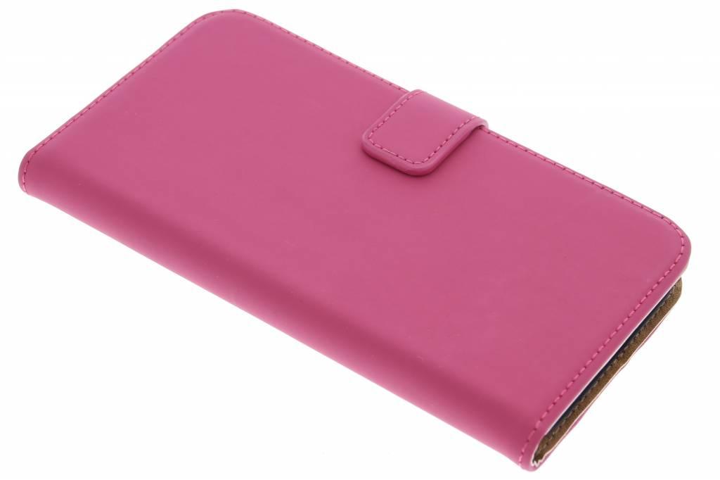 Selencia Luxe Book Case voor de Huawei G8 - Fuchsia