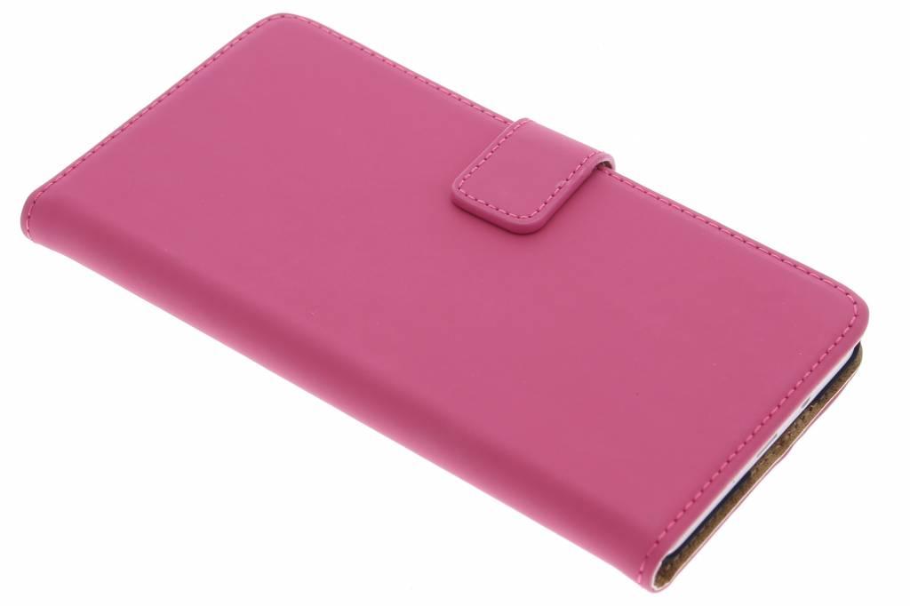Selencia Luxe Book Case voor de Samsung Galaxy A7 - Fuchsia