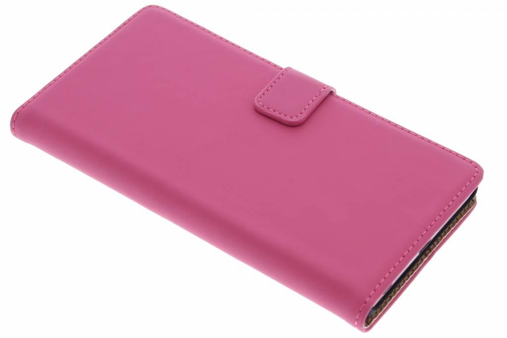 Selencia Luxe Book Case voor de Sony Xperia Z5 Premium - Fuchsia
