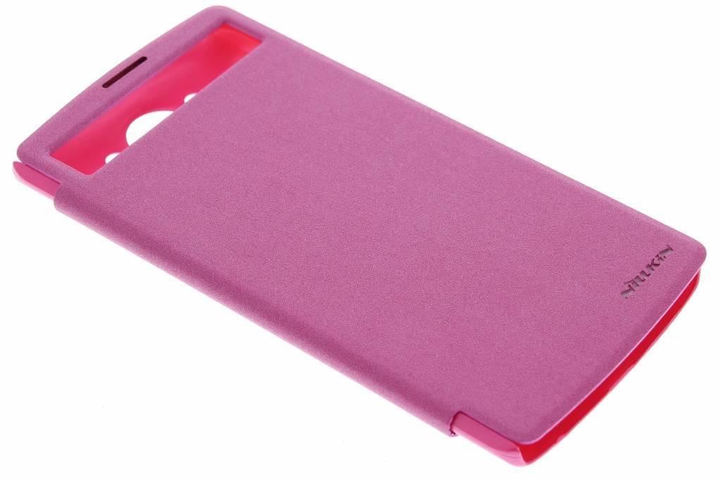 Nillkin New Leather Case voor de LG V10 - Fuchsia