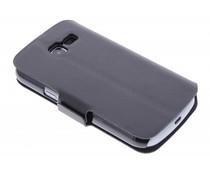 Zwart stijlvolle booktype hoes Samsung Galaxy Trend Lite