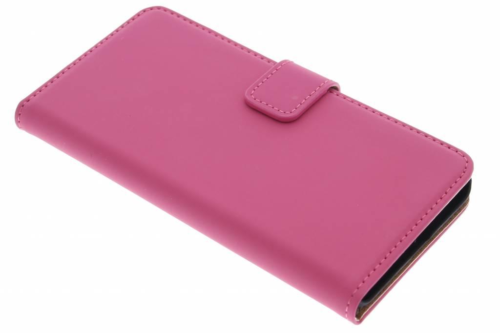 Selencia Luxe Book Case voor de OnePlus X - Fuchsia