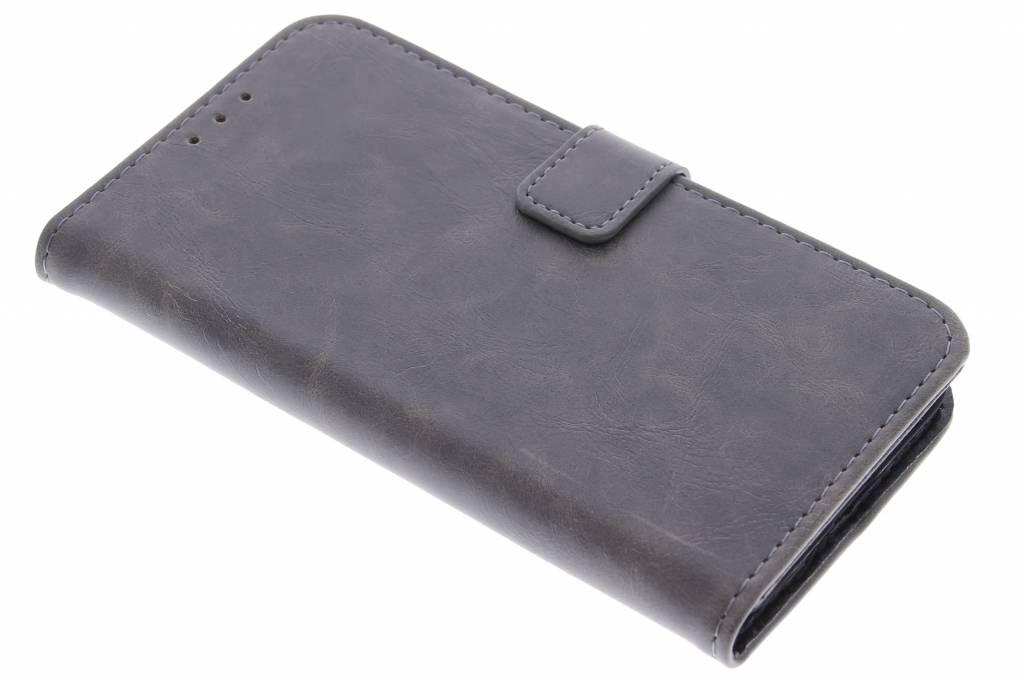 Grijsbruine luxe leder booktype hoes voor de Huawei Y6