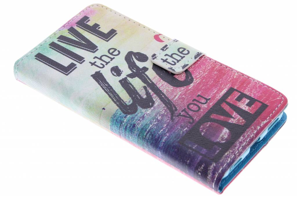 Live the life design TPU booktype hoes voor de Huawei Y6