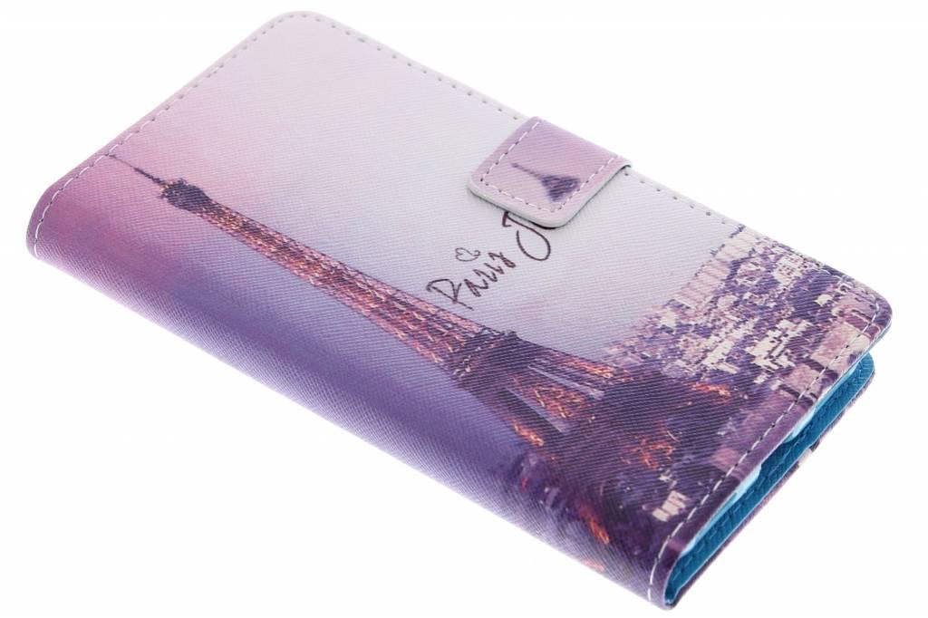 Parijs design TPU booktype hoes voor de Huawei Y6