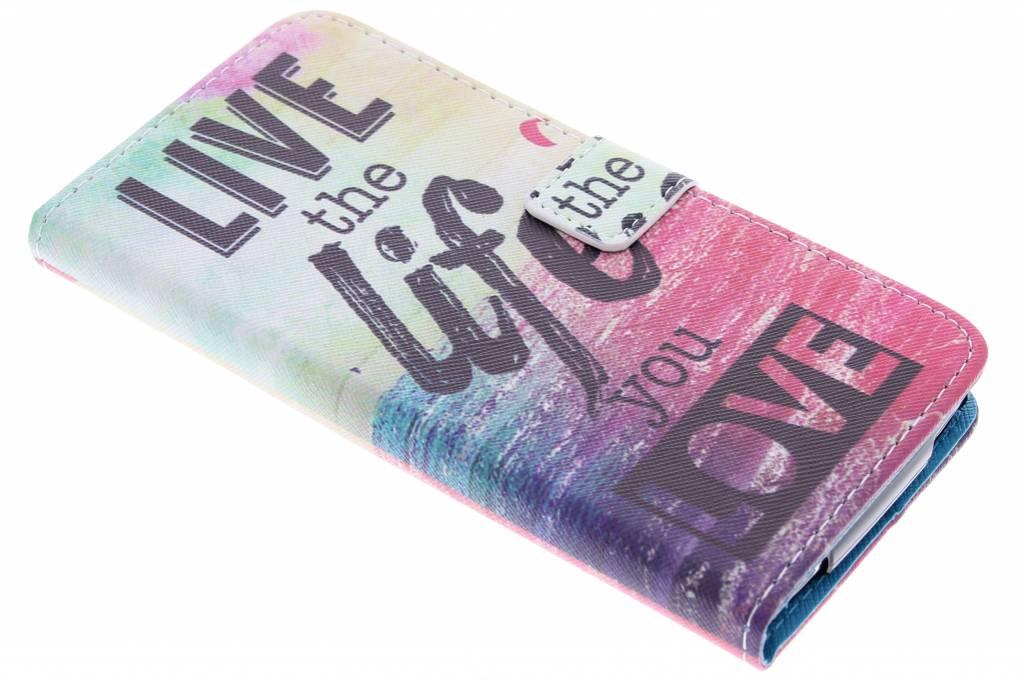 Live the life design TPU booktype hoes voor de Acer Liquid Z630