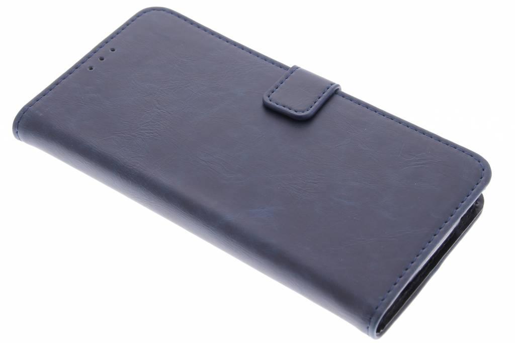 Donkerblauwe luxe leder booktype hoes voor de Acer Liquid Z630