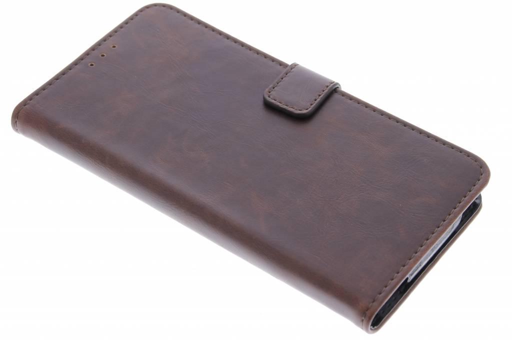 Bruine luxe leder booktype hoes voor de Acer Liquid Z630