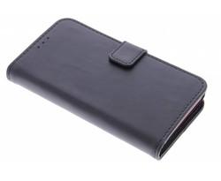 Zwart luxe leder booktype hoes Xperia Z5 Compact