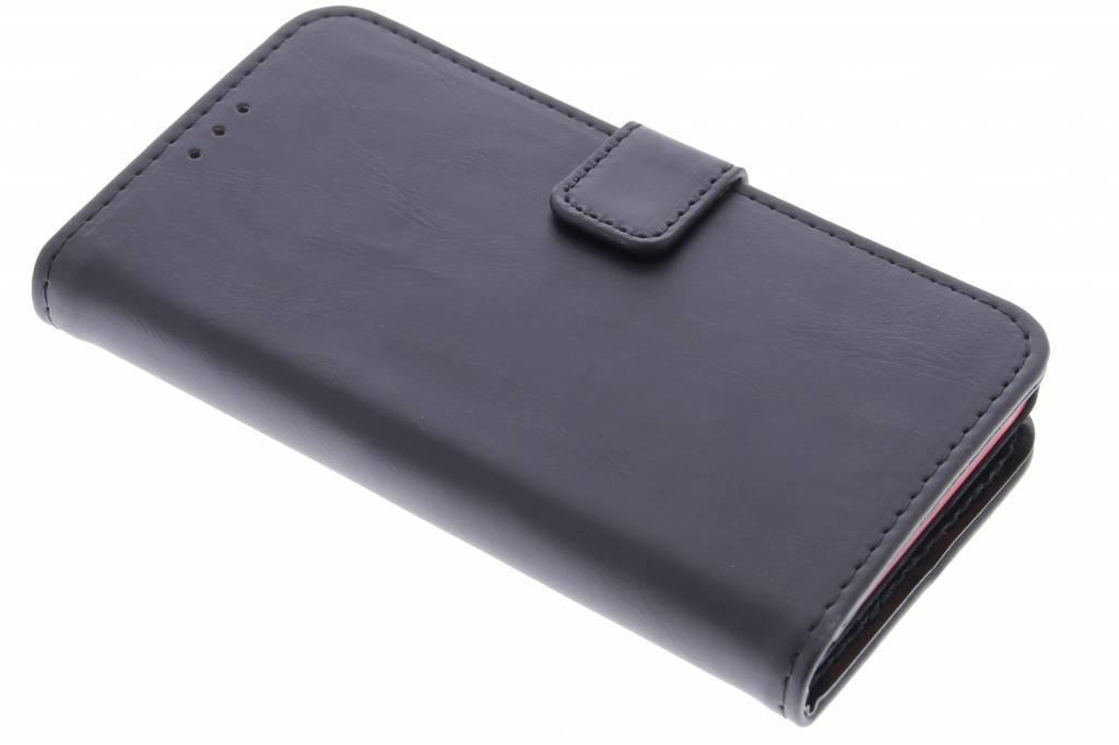 Zwarte luxe leder booktype hoes voor de Sony Xperia Z5 Compact