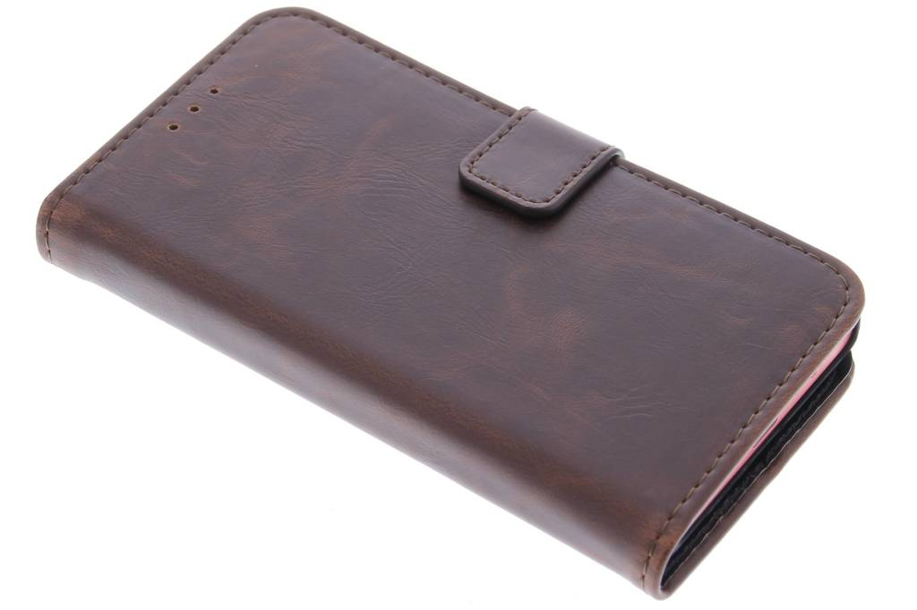 Bruine luxe leder booktype hoes voor de Sony Xperia Z5 Compact