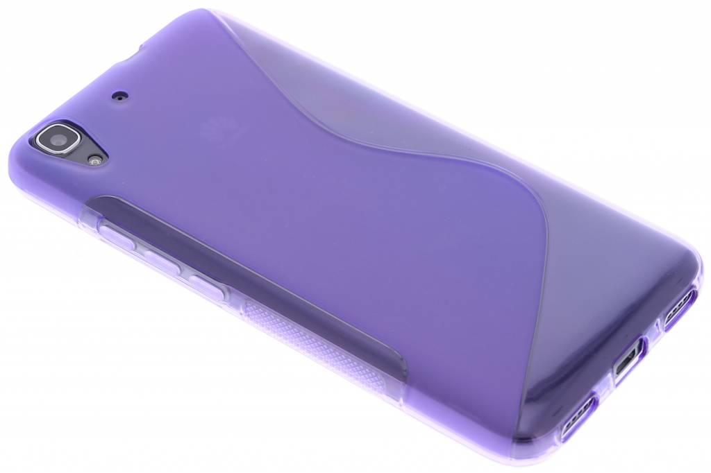 Paars S-line TPU hoesje voor de Huawei Y6