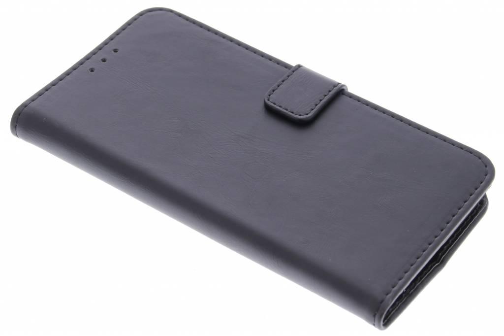Zwarte luxe leder booktype hoes voor de OnePlus 2