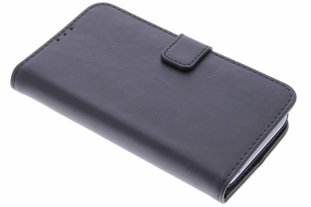 Zwarte luxe leder booktype hoes voor de Huawei Y5