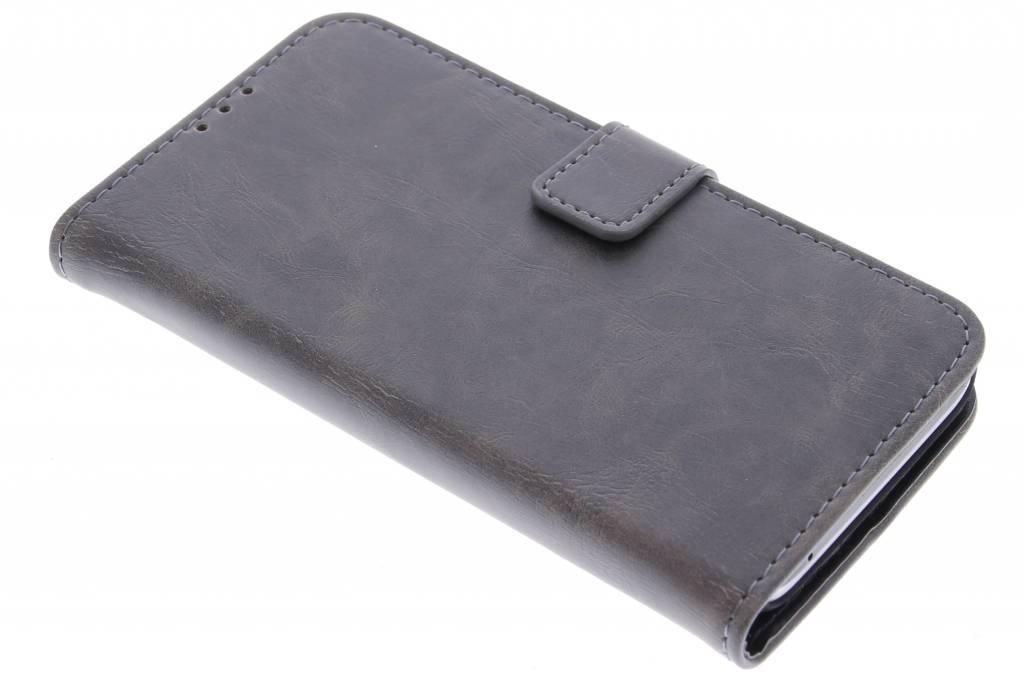 Grijsbruine luxe leder booktype hoes voor de Huawei Y5