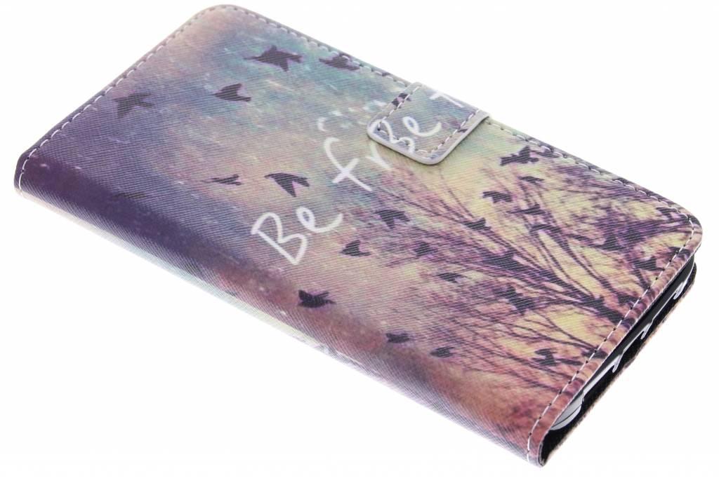 Be free design TPU booktype hoes voor de Huawei G8
