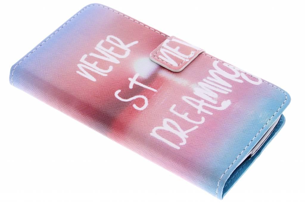 Never stop dreaming design TPU booktype hoes voor de Acer Liquid Z530
