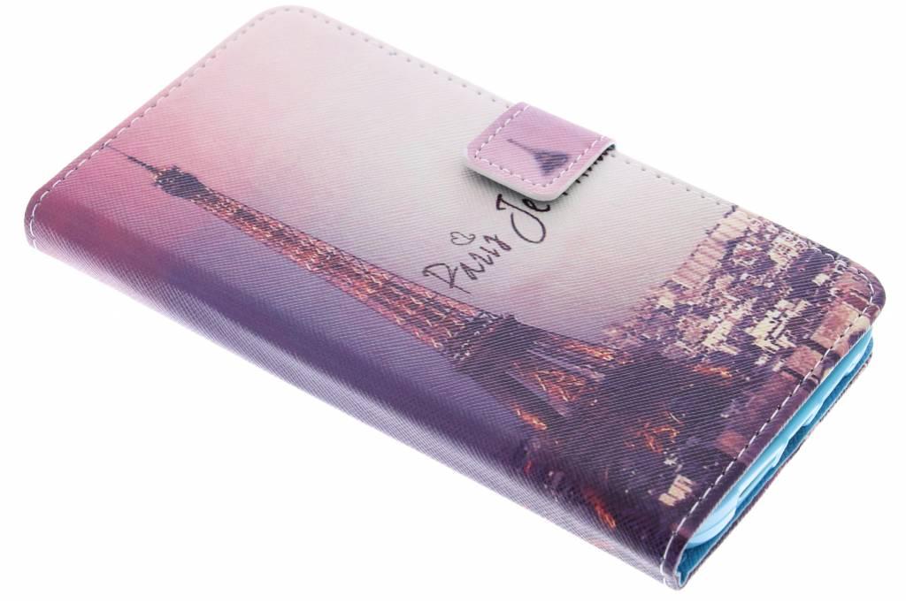 Parijs design TPU booktype hoes voor de Huawei G8