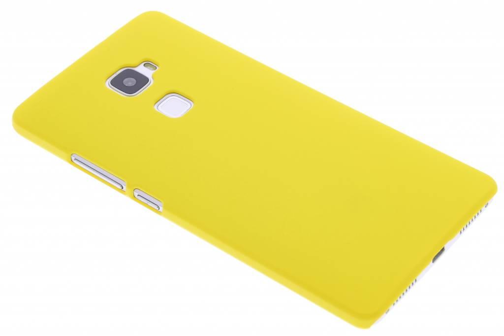 Geel effen hardcase hoesje voor de Huawei Mate S