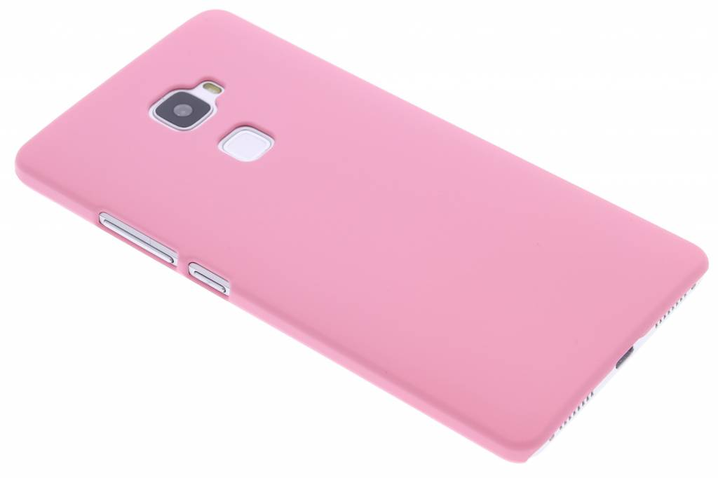Roze effen hardcase hoesje voor de Huawei Mate S