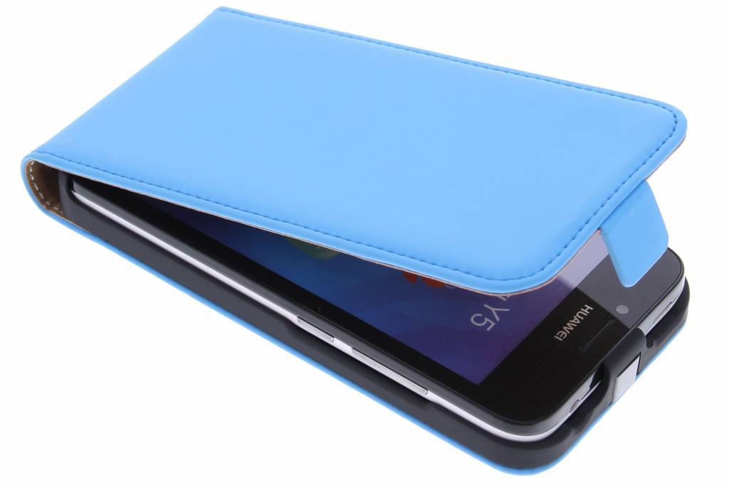 Mobiparts Premium Flipcase voor de Huawei Y5 - Light Blue