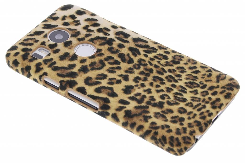 Luipaard flock hardcase hoesje voor de LG Nexus 5X