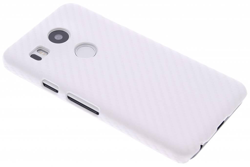 Wit carbon look hardcase hoesje voor de LG Nexus 5X