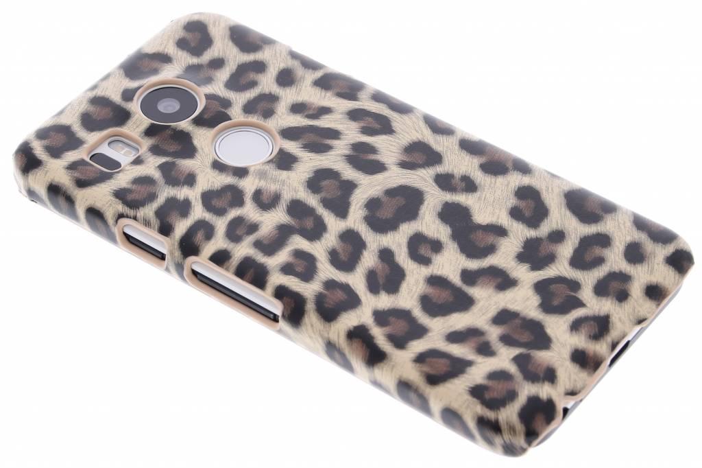 Bruin luipaard design hardcase hoesje voor de LG Nexus 5X