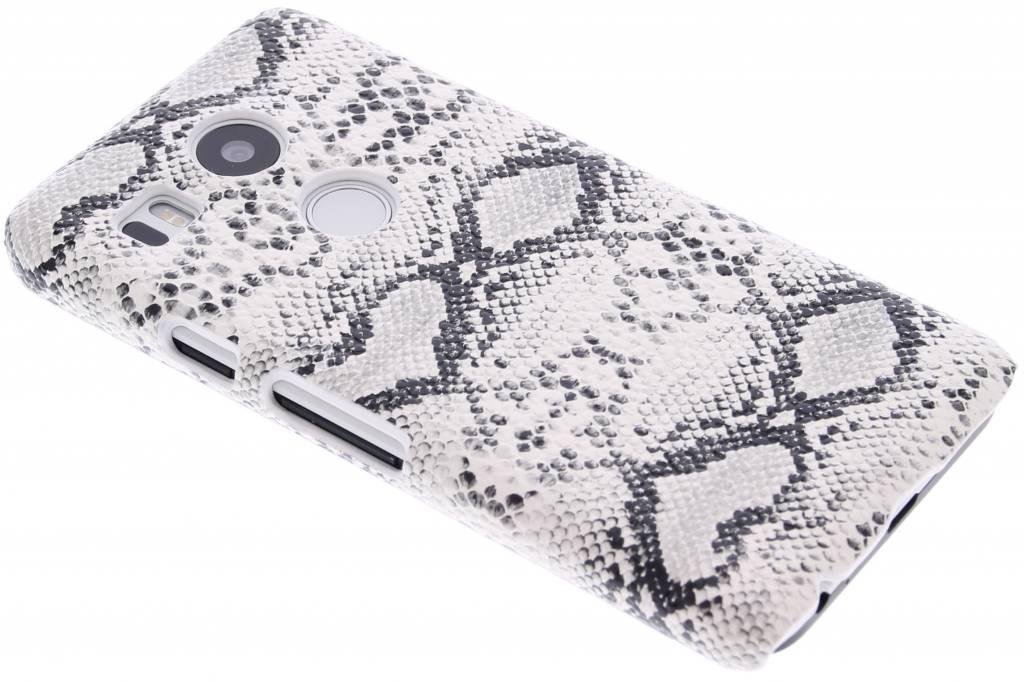 Wit slangen design hardcase hoesje voor de LG Nexus 5X