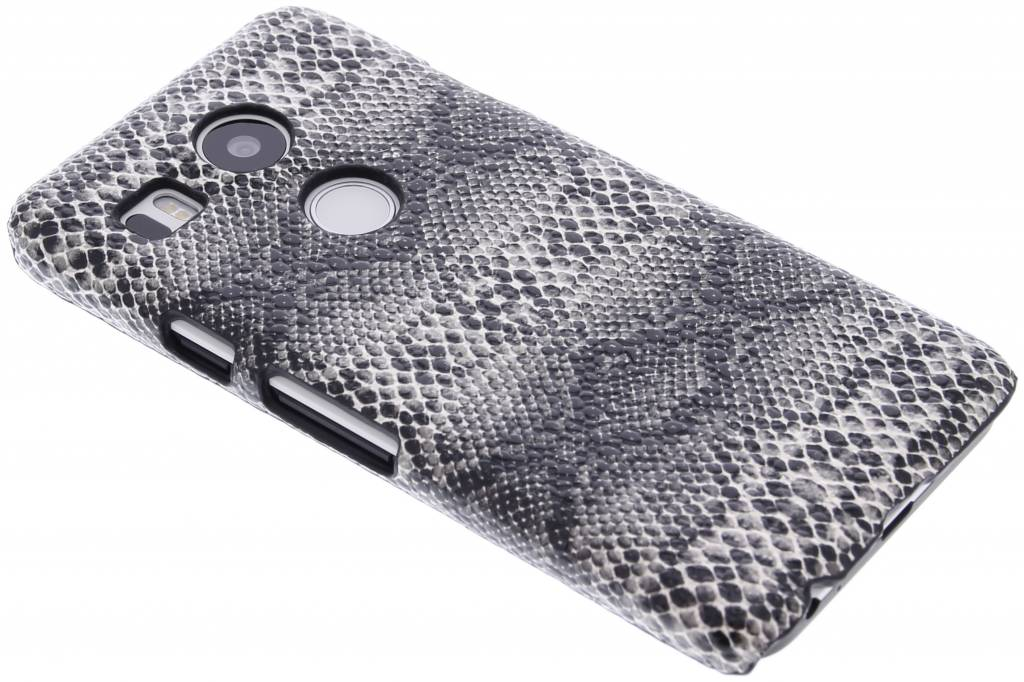 Zwart slangen design hardcase hoesje voor de LG Nexus 5X
