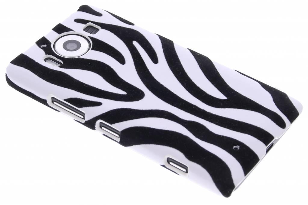Zebra flock hardcase hoesje voor de Microsoft Lumia 950