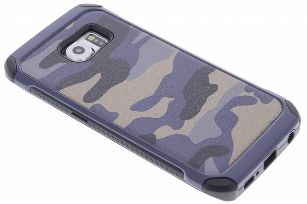 Blauw army defender hardcase hoesje voor de Samsung Galaxy S6 Edge