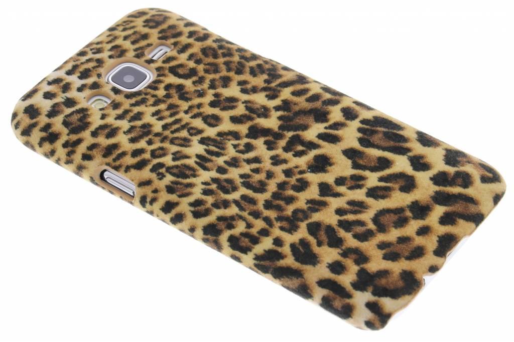 Luipaard flock design hardcase hoesje voor de Samsung Galaxy J5