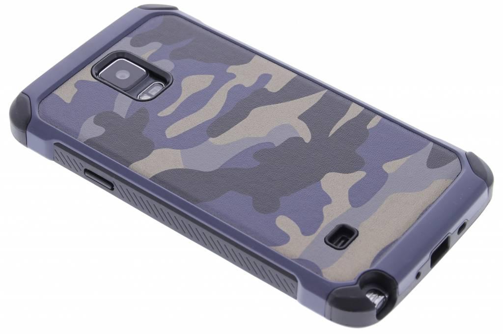 Blauw amy defender hardcase hoesje voor de Samsung Galaxy Note 4
