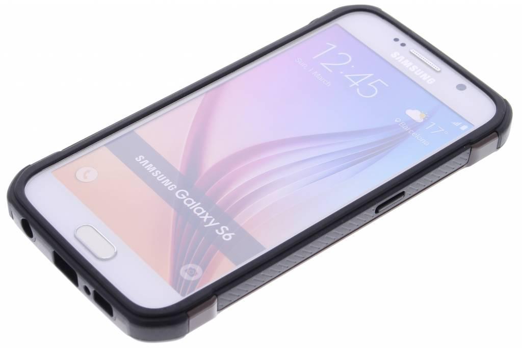 Noir Défenseur Étui Rigide Pour Samsung Galaxy S6 qUf1UC1