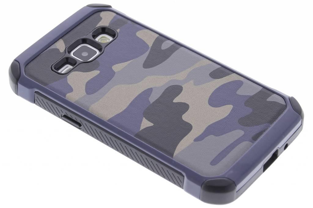 Blauw army defender hardcase hoesje voor de Samsung Galaxy J1