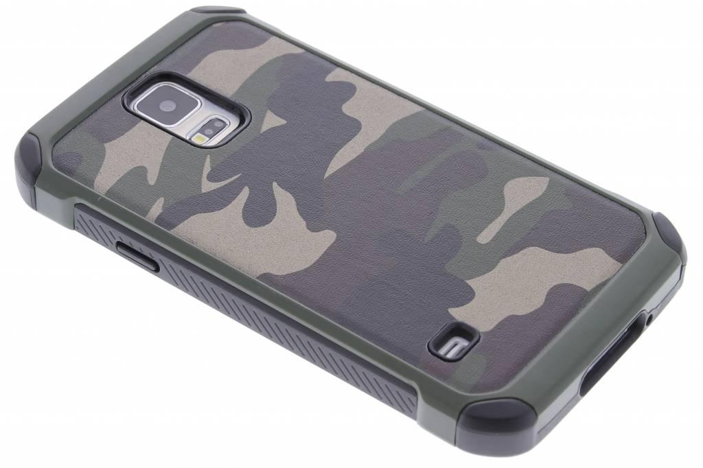 Groen army defender hardcase hoesje voor de Samsung Galaxy S5 (Plus) / Neo