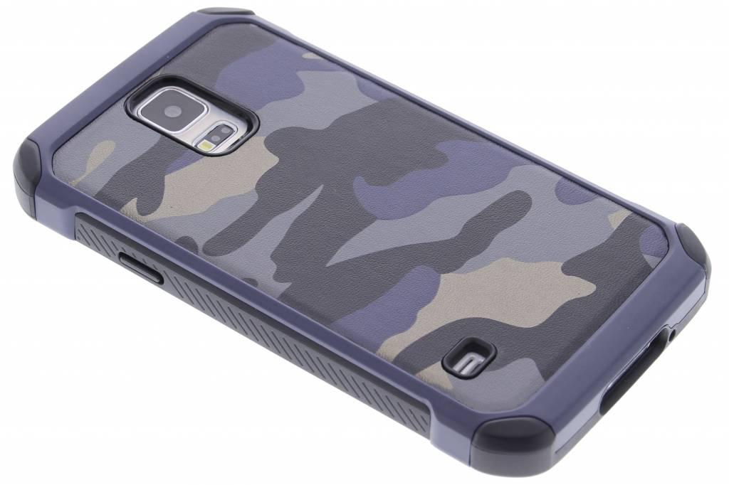 Blauw army defender hardcase hoesje voor de Samsung Galaxy S5 (Plus) / Neo