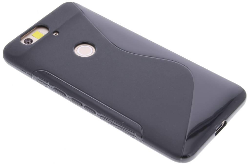 Zwart S-line TPU hoesje voor de Huawei Nexus 6P