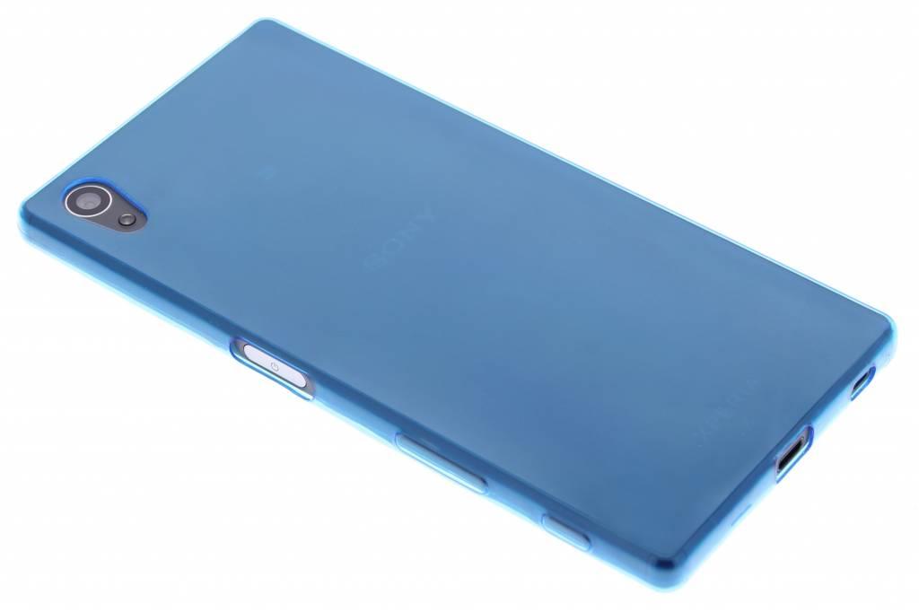 Blauw ultra thin transparant TPU hoesje voor de Sony Xperia Z5