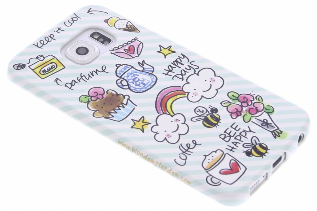 Blond Amsterdam Happy days softcase voor de Samsung Galaxy S6 Edge