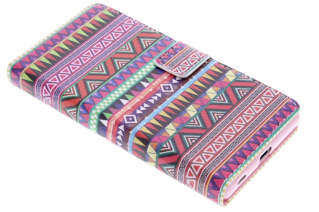 Aztec design TPU booktype hoes voor de Sony Xperia Z5