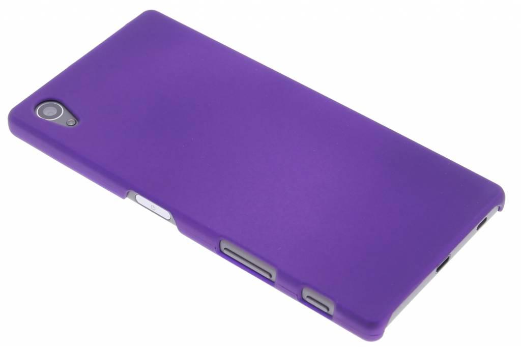 Paars effen hardcase hoesje voor de Sony Xperia Z5