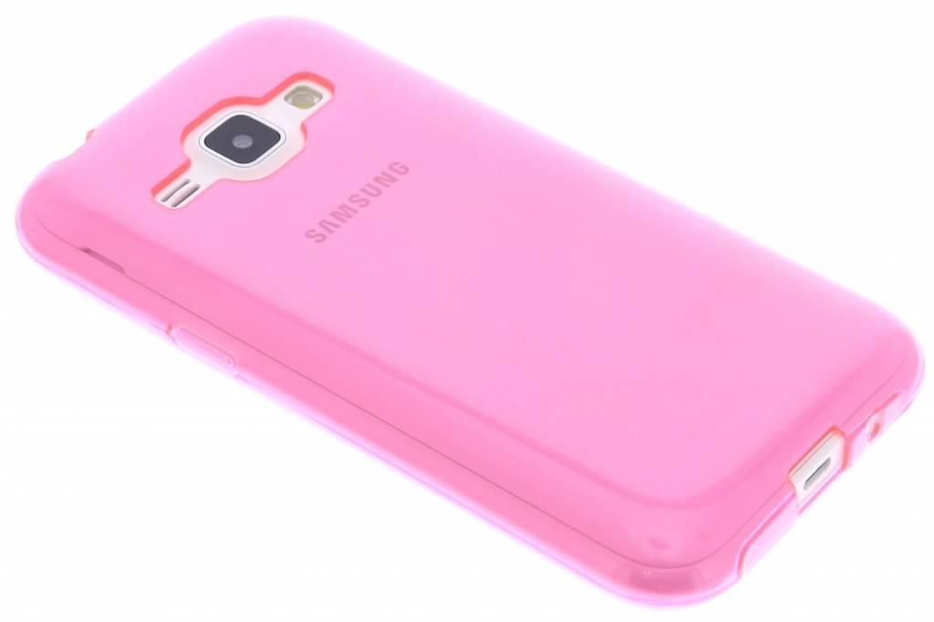 Fuchsia transparante gel case voor de Samsung Galaxy J1