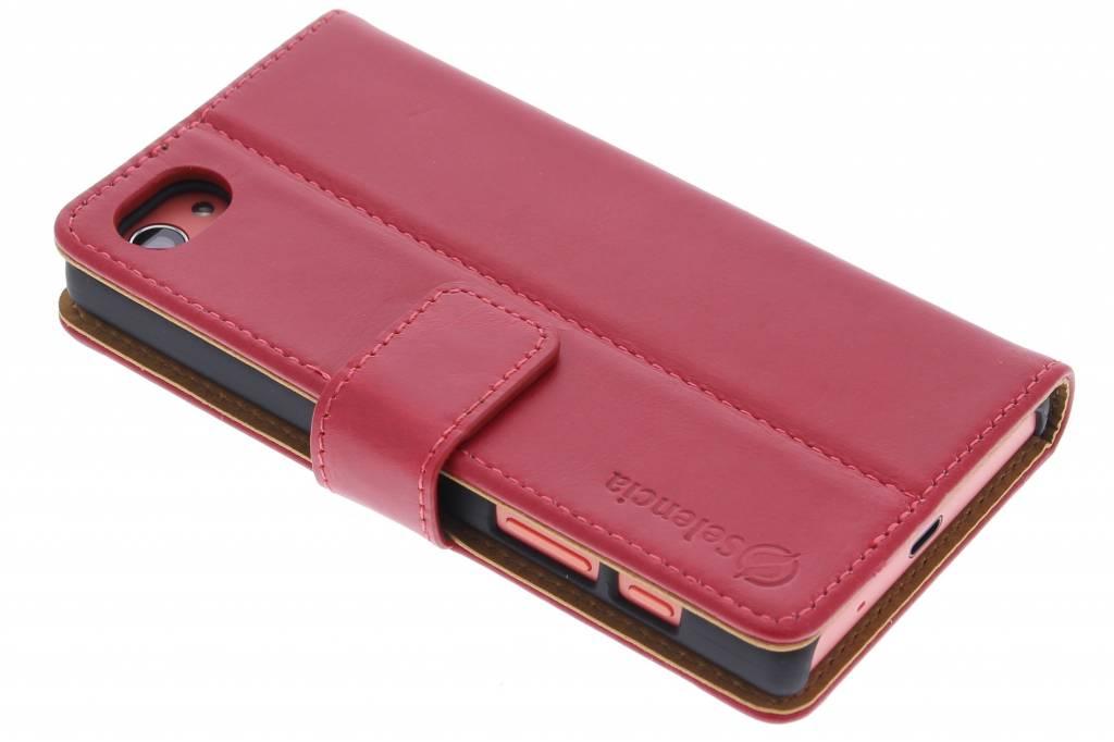 Selencia Luxe lederen Booktype hoes voor de Sony Xperia Z5 Compact - Rood