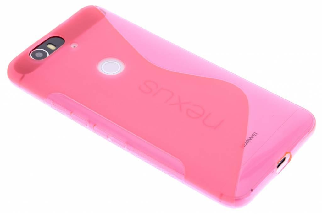 Roze S-line TPU hoesje voor de Huawei Nexus 6P