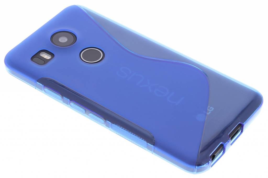 Blauw S-line TPU hoesje voor de LG Nexus 5X