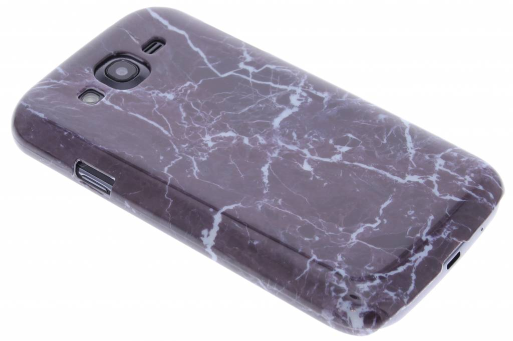 Donkerpaars marmer hardcase hoesje voor de Samsung Galaxy Grand (Neo)