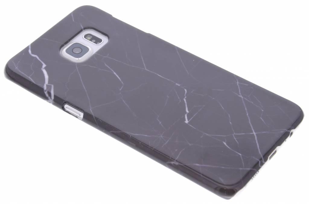 Zwart marmer hardcase hoesje voor de Samsung Galaxy S6 Edge Plus