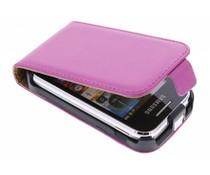 Fuchsia luxe flipcase Samsung Galaxy Y